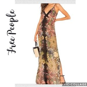 NWT Free People Wildflower Printed Maxi Slip Dress
